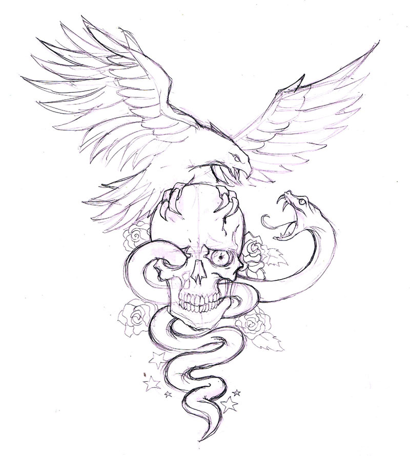 Snake Tattoo Drawing