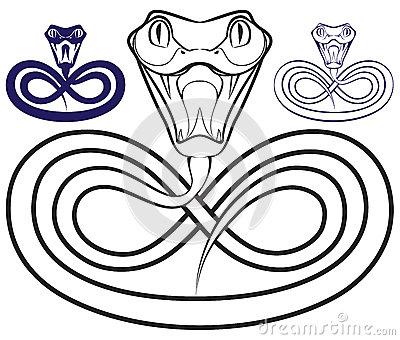 400x340 Drawn Snake Open Mouth