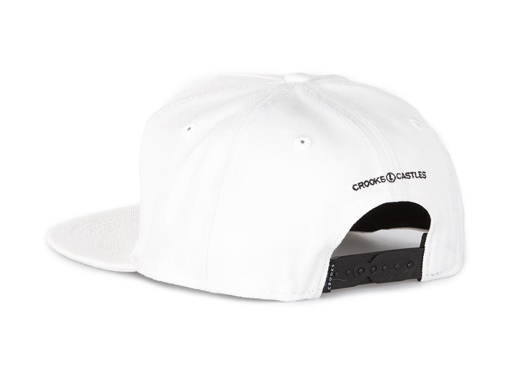 1024x768 The Crooks And Castles Champagne Crooks Snapback White