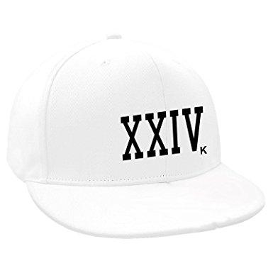 385x385 Bruno Mars Snapback Flat Peak Baseball Cap 24 Carat White Non