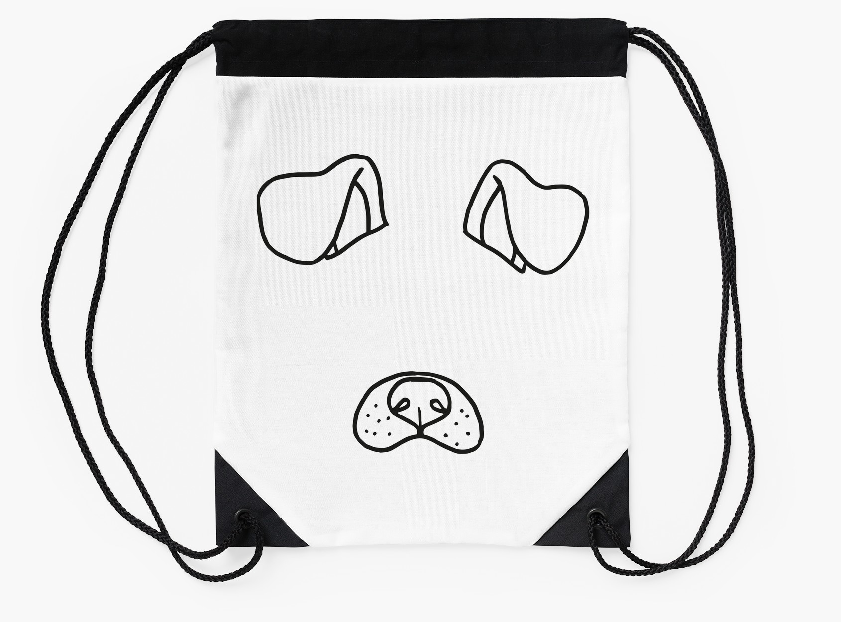 1690x1250 Snapchat Dog Filter Drawstring Bags By Emabee Redbubble
