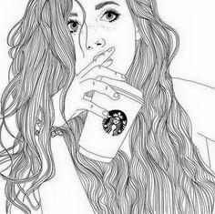 236x235 Afbeeldingsresultaat Voor Tekeningen Meisje Met Starbucks Style