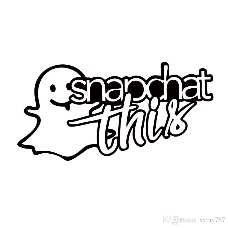 Snapchat Logo Drawing