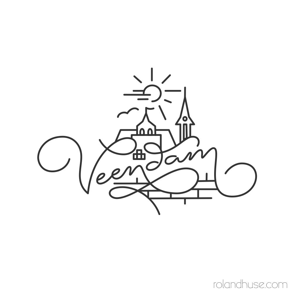 1024x1024 Veendam Snapchat Geofilters Media Design, Logo