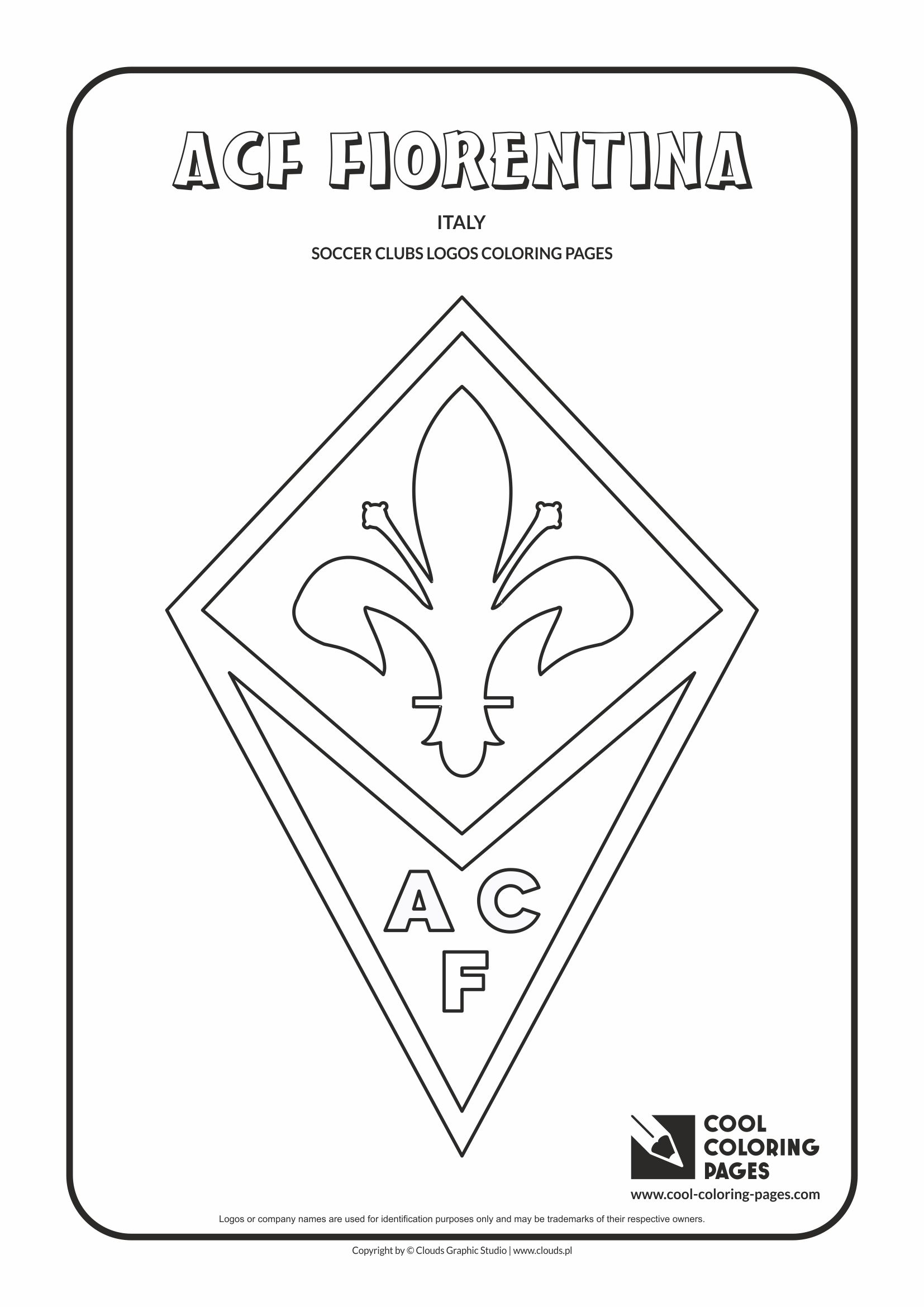 1654x2339 Acf Fiorentina Logo Coloring Coloring Page With Acf Fiorentina