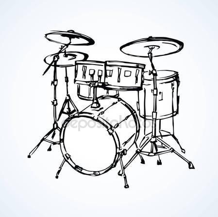 449x447 Drum Kit Sketch Stock Vectors, Royalty Free Drum Kit Sketch