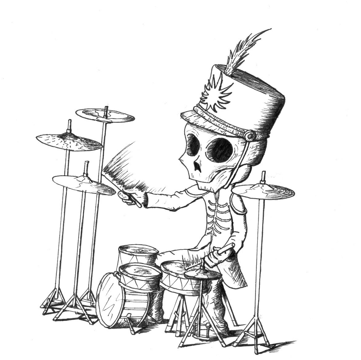 1182x1179 The Black Parade Drummer By S I O N E