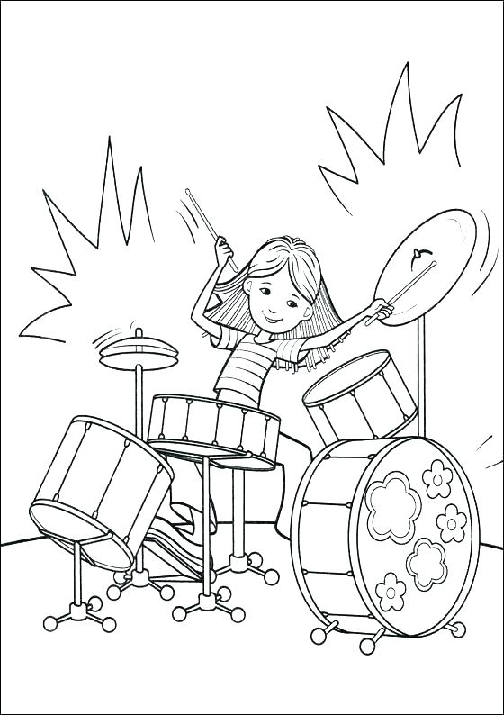 560x794 Drum Coloring Page Drum Coloring Page As Well As Drum Coloring