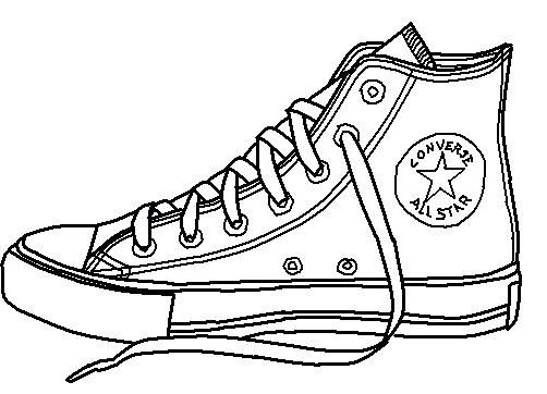502x362 How To Draw Converse, How To Draw Chuck Taylors, Step By Step