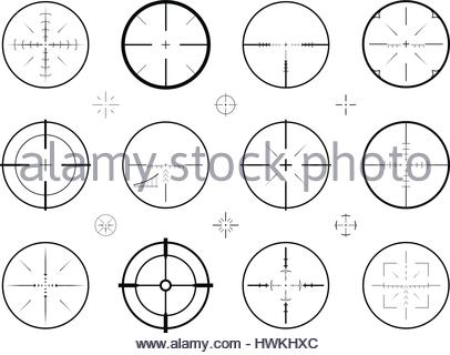 406x320 Illustration Of Sniper Rifle Sight Or Scope Aiming