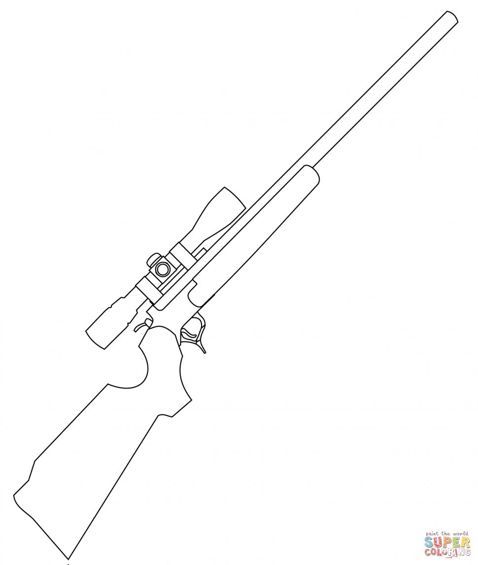 970x1145 Coloring Pages Rifle Coloring Pages Sniper Page Rifle Coloring