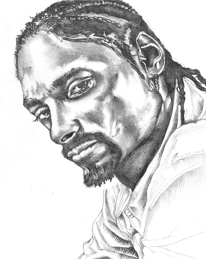 717x900 Snoop Dogg Drawing By Hiten Mistry