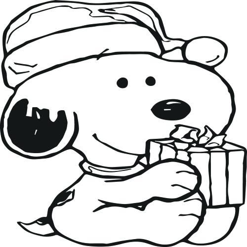 500x500 Snoopy Christmas Coloring Pages Peanuts Coloring Pages Click