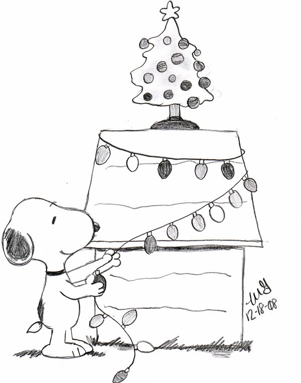 600x763 Snoopy Christmas Coloring Pages