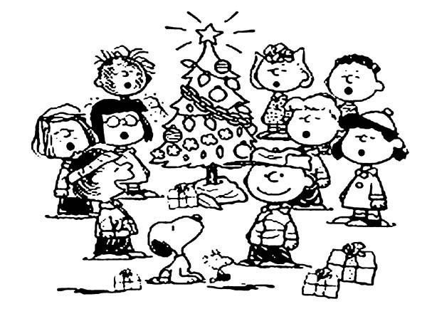 600x472 Snoopy Christmas Tree Coloring Pages Best Place To Color