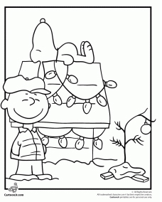 228x284 Charlie Brown And Snoopy Christmas Coloring Page To Pretty Draw