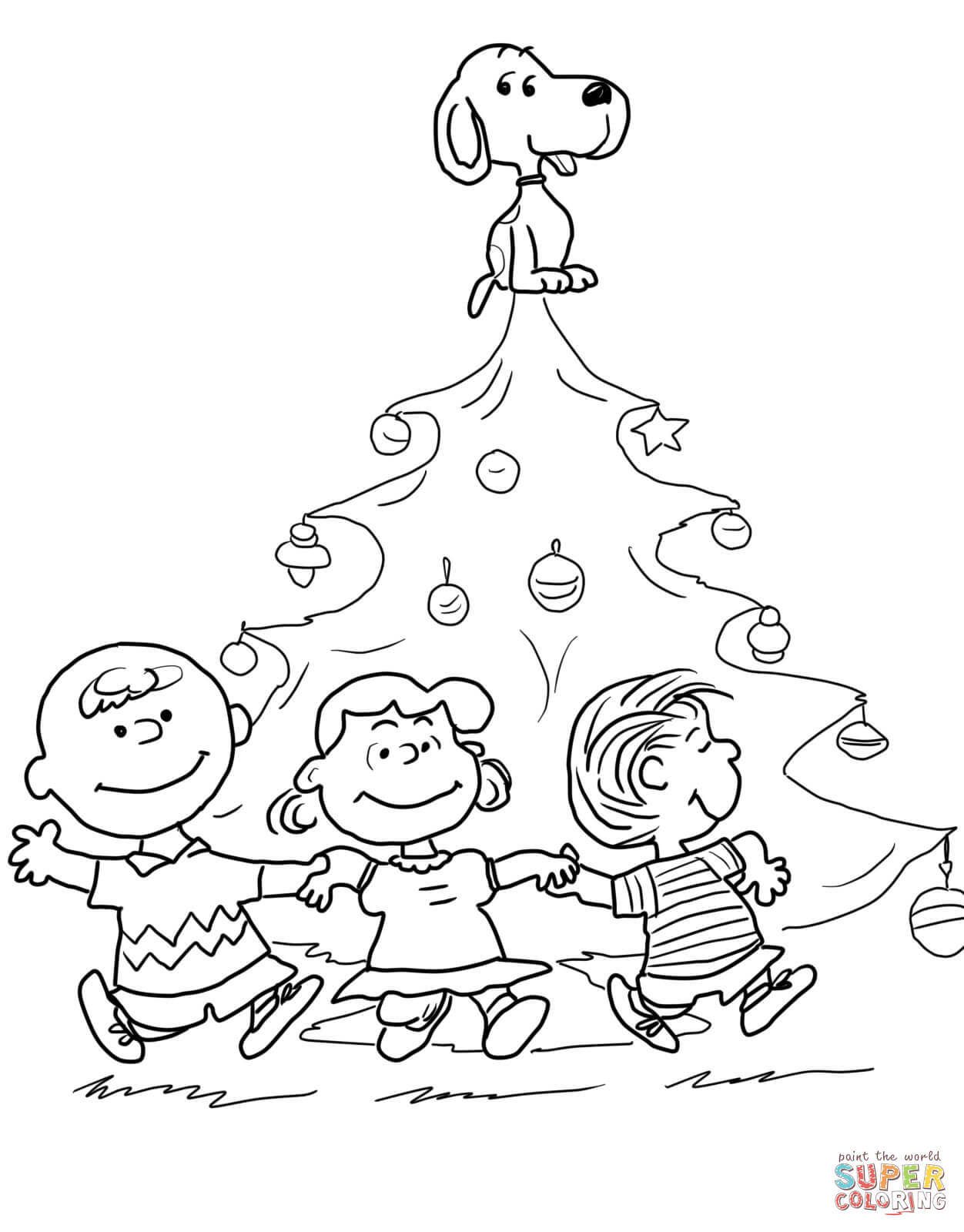 how to draw snoopy christmas