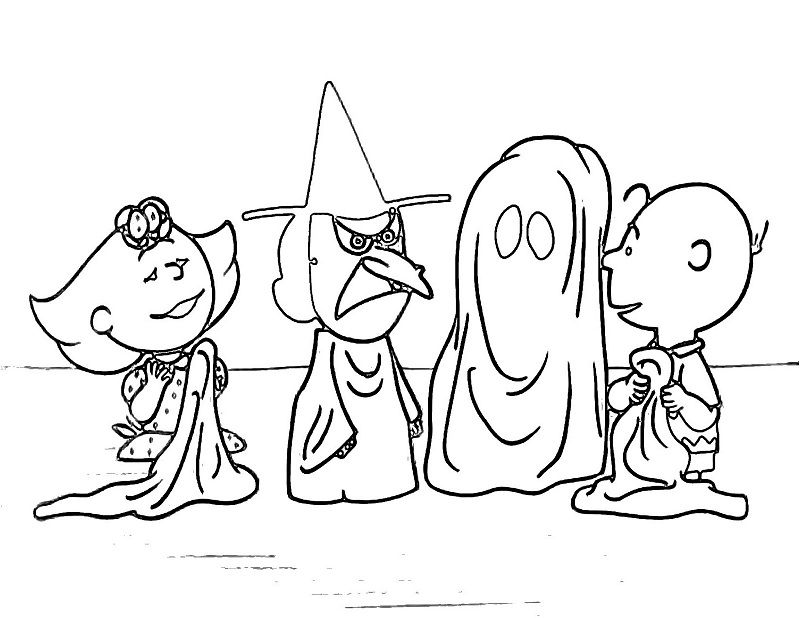 800x618 Charlie Brown Preschool Halloween Coloring Pages Holiday