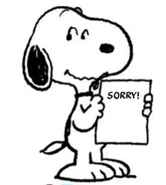 336x373 Sorry! Sorry Snoopy, Peanuts Gang And Charlie Brown