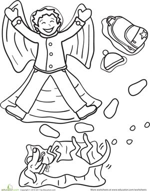 301x382 Snow Angel Worksheet