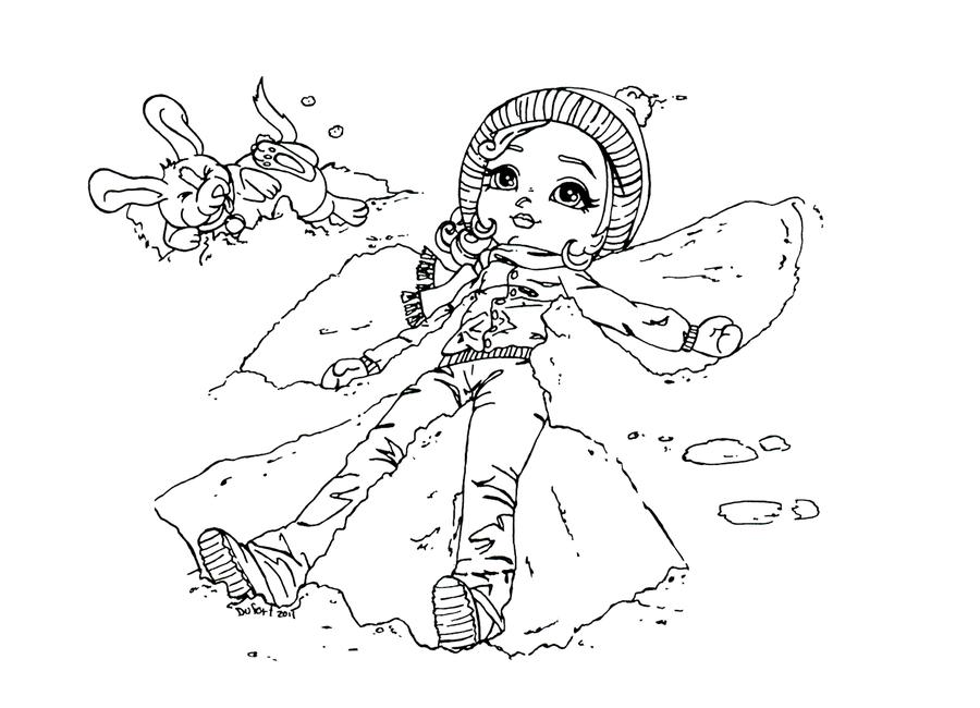 900x650 Snow Angel By Jadedragonne