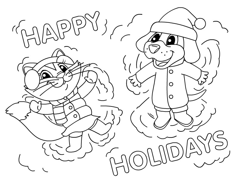 792x612 Snow Angels For Coloring Page Printable Snow Angel Coloring Pages
