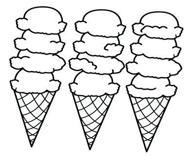 400x322 Ice Cream Cone Coloring Picture Ice Cream Coloring Page Snow Cone