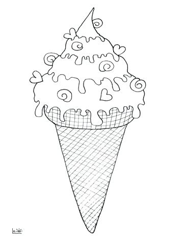 367x480 Ice Cream Cone Coloring Template Also Ice Cream Coloring Page 526