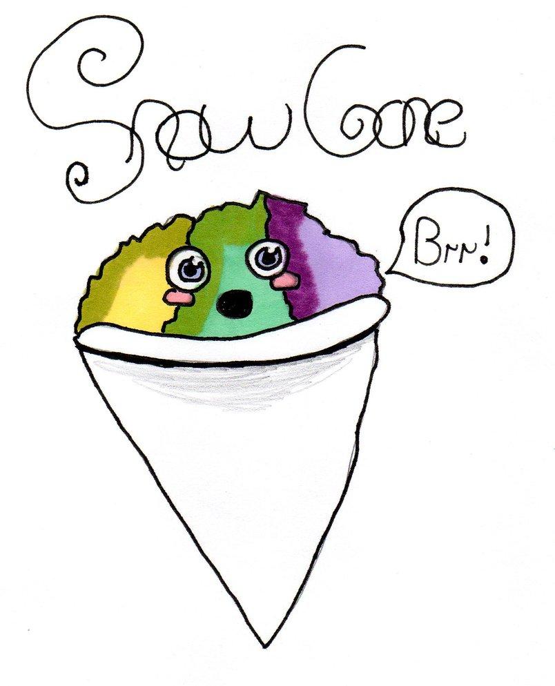 804x994 Kawaii Drawing Snow Cone !!! By Megatiger42