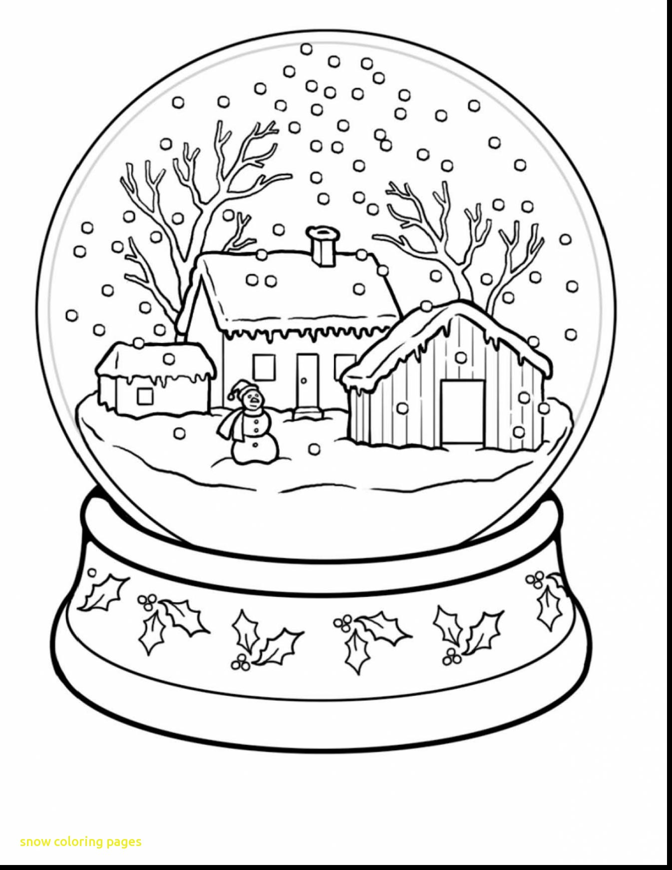 1346x1742 Snow Coloring Pages With Snow Globe Worksheet