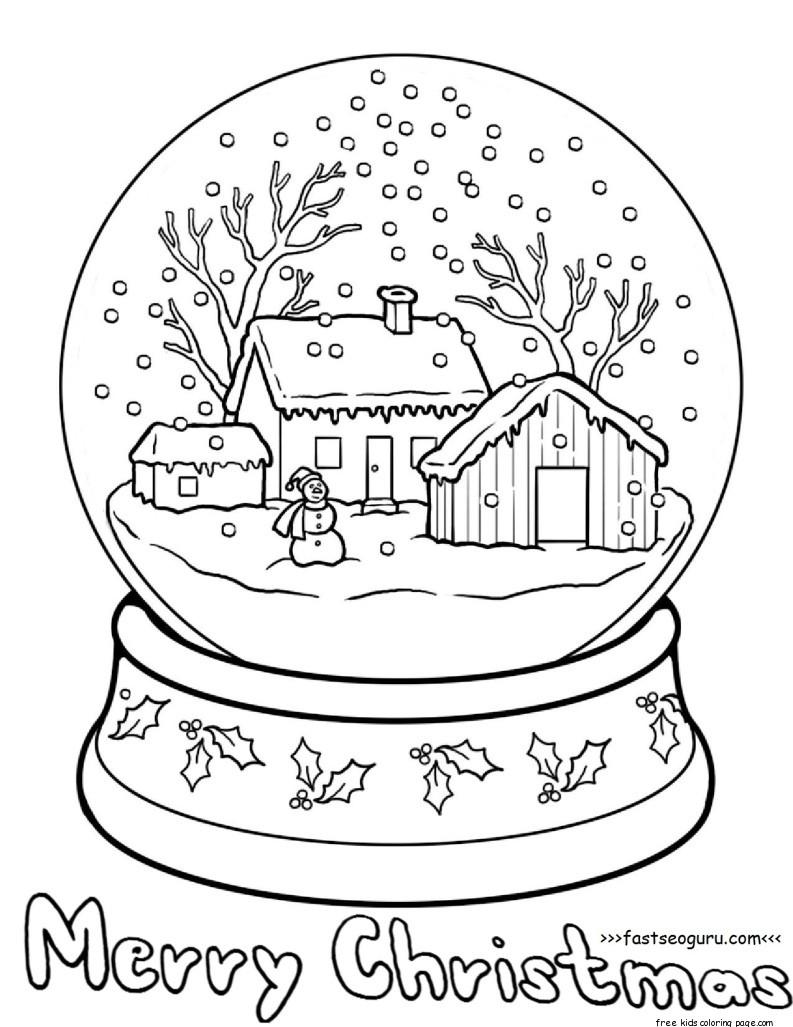 793x1027 Snow Globe Coloring