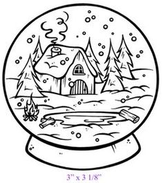 236x264 Snow Globe Coloring Page Snow Globes Globe, Snow