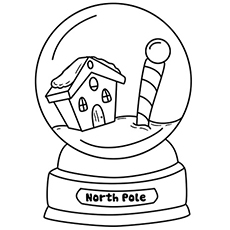230x230 Snow Globe Coloring Page The Snow Globe