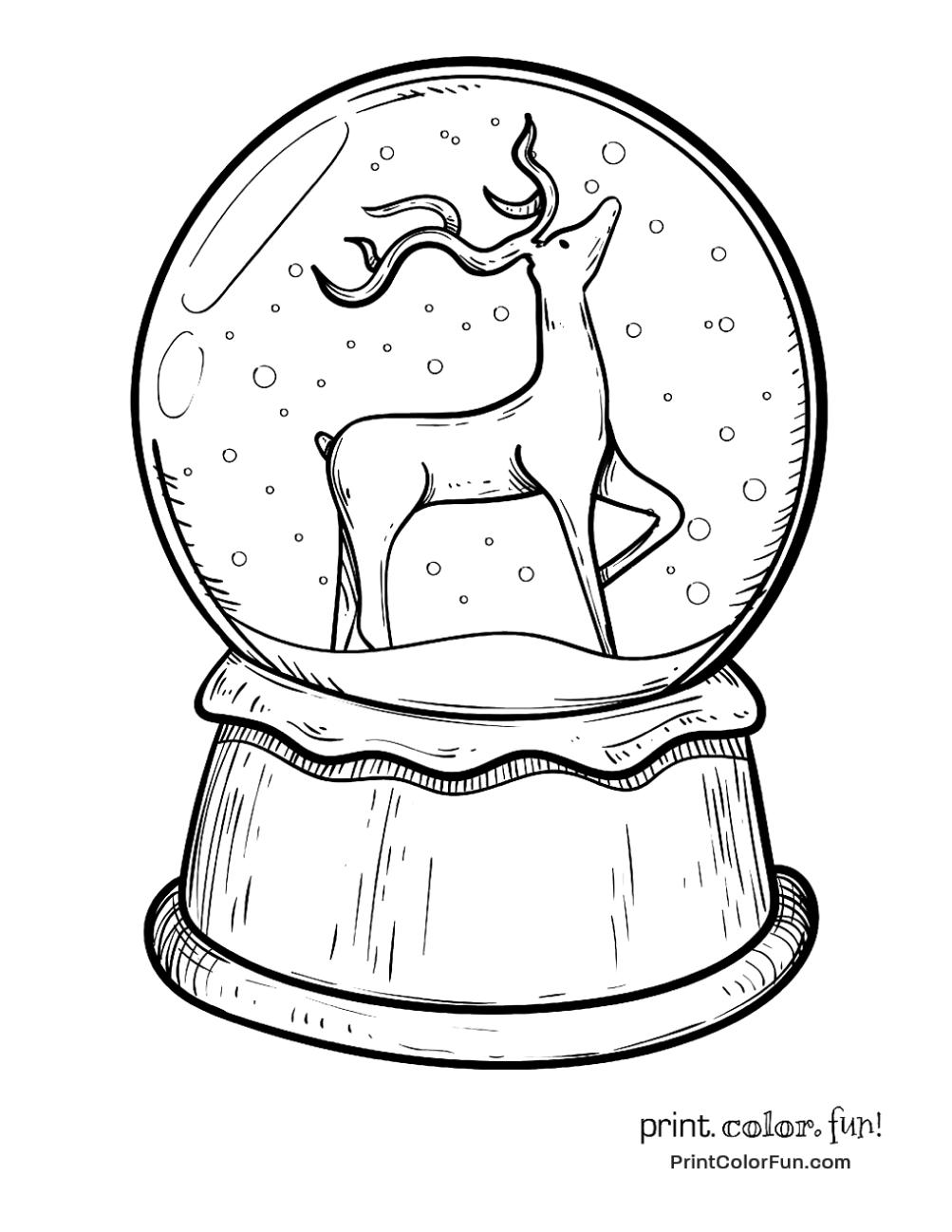 1003x1298 Christmas Snow Globe With Reindeer Buenas Ideas