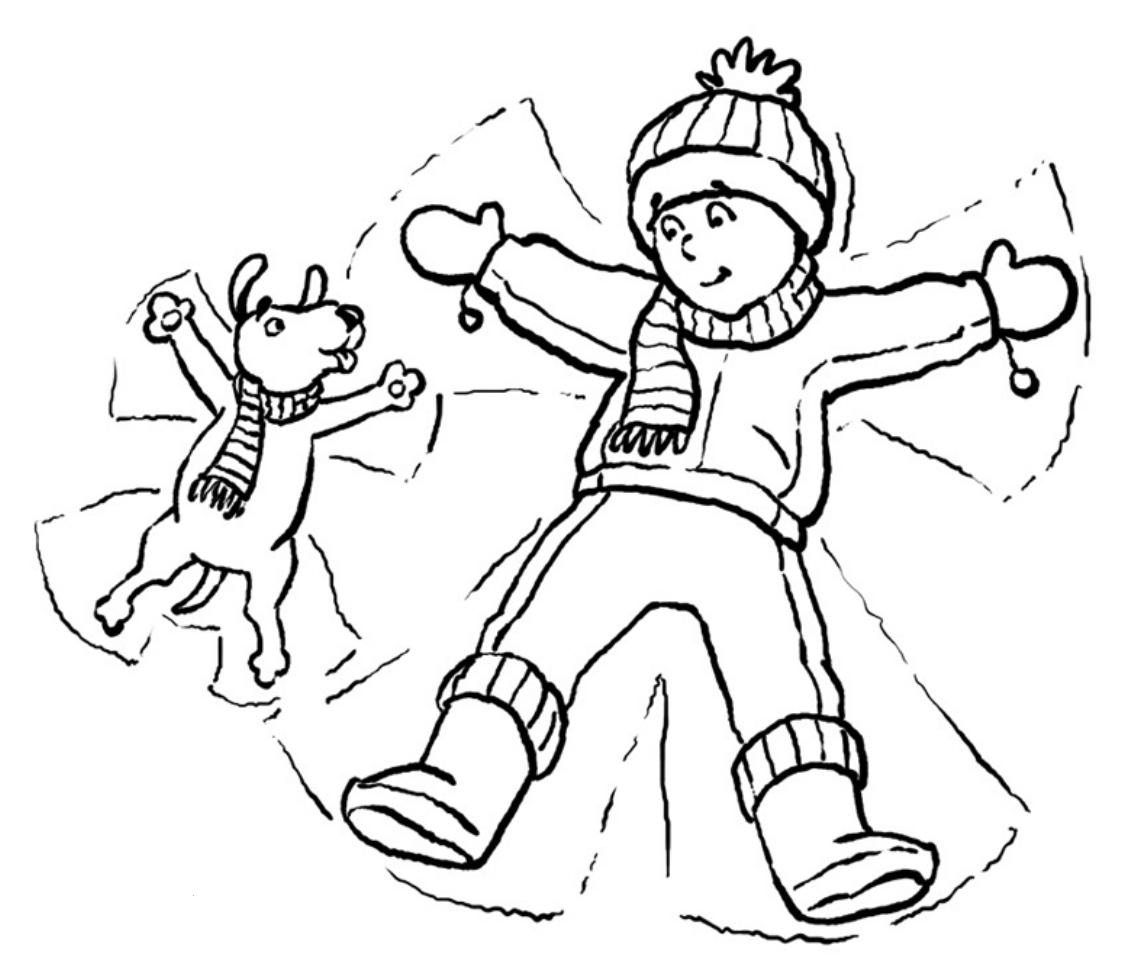 1121x973 Snowy Scene Coloring Page Winter Snow Coloring Pages Winter