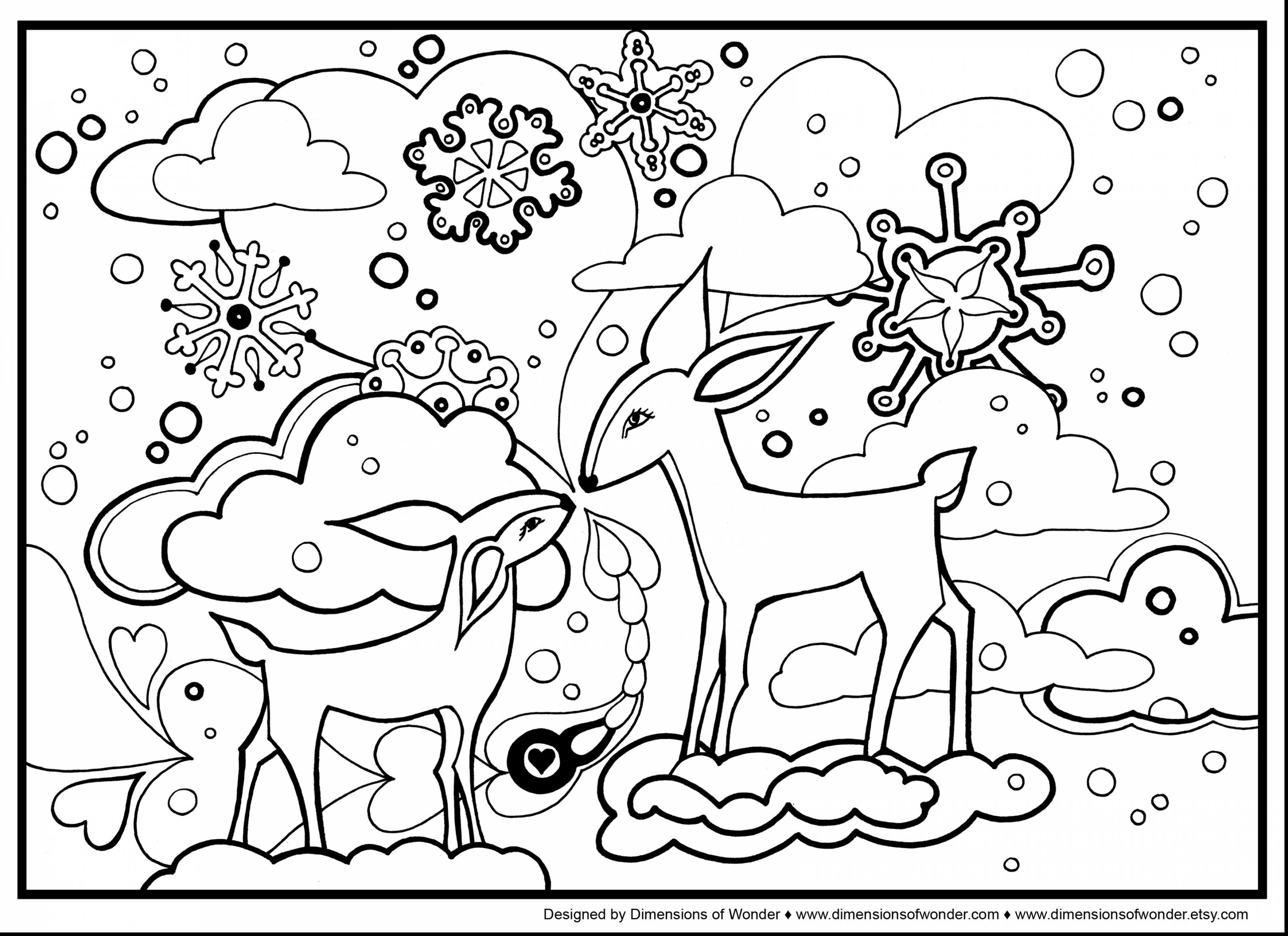 3630x2640 Winter Landscape Coloring Pages For Adults Printable