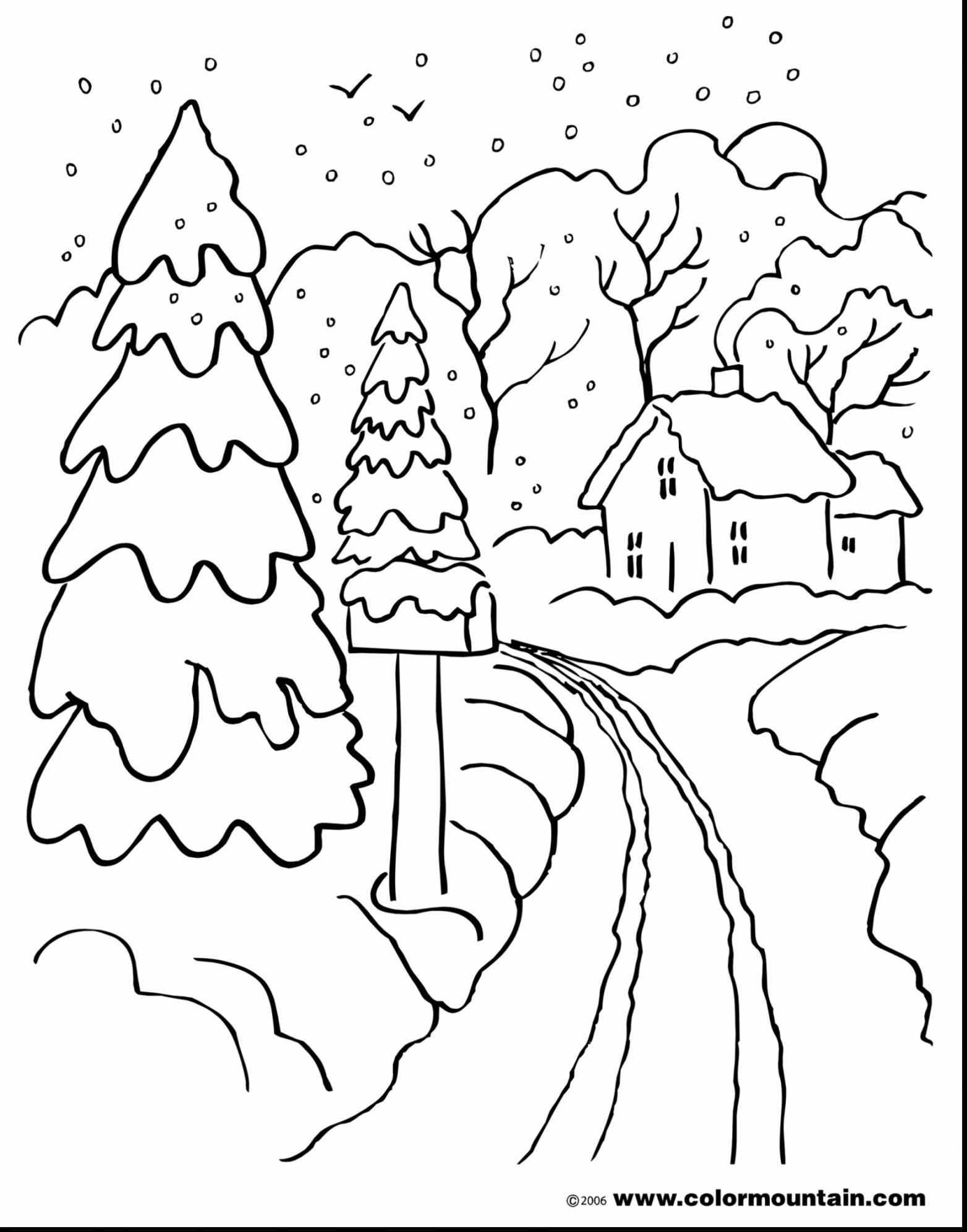 1564x1993 Winter Landscape Coloring Pages Winter Landscape Coloring Pages
