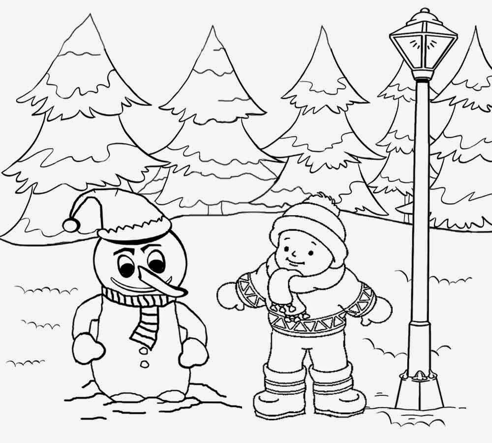 1000x900 Winter Landscape Drawing For Kids How To Draw A Winter Scene, Step