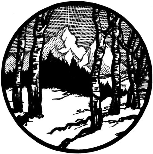 497x500 Winter Landscape Engraving Free Vintage Art