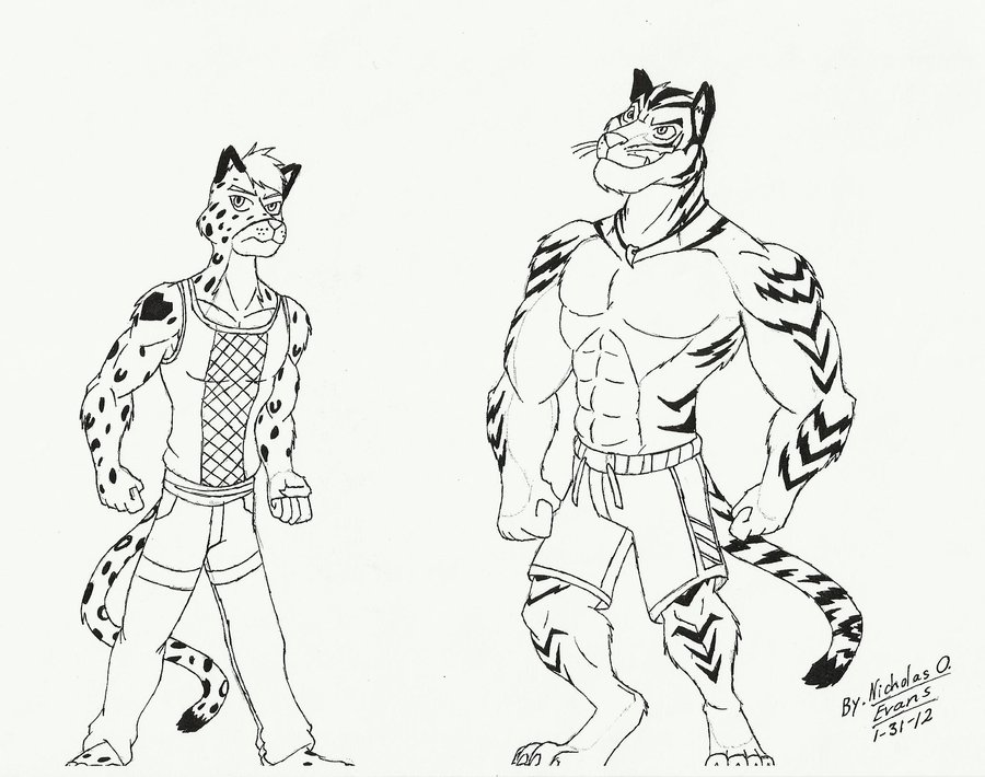 900x710 A Tuff Snow Leopard And A Buff Tiger By Eon54