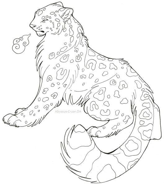 529x600 Art Request Snow Leopard By Abyssus Cruor