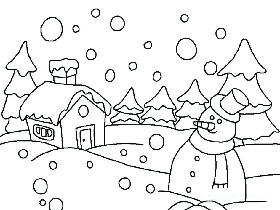 945x709 Snow Plow Coloring Pages