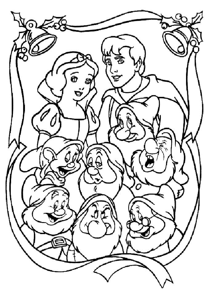 685x950 Snow White And The Seven Dwarfs Coloring Pages Pdf Printable