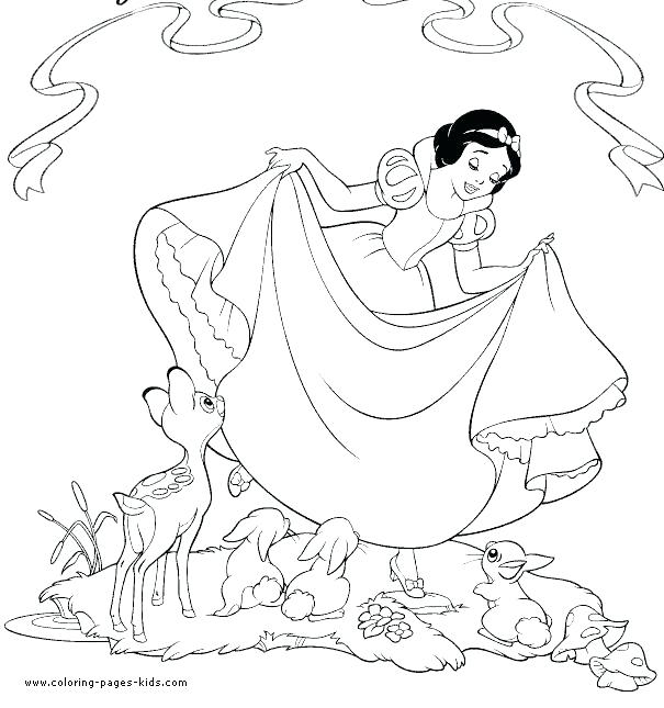 605x645 Coloring Snow Snow Coloring Page Snow White Coloring Pages Free