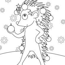 220x220 Dog And Bear Having A Snowball Fight Coloring Pages
