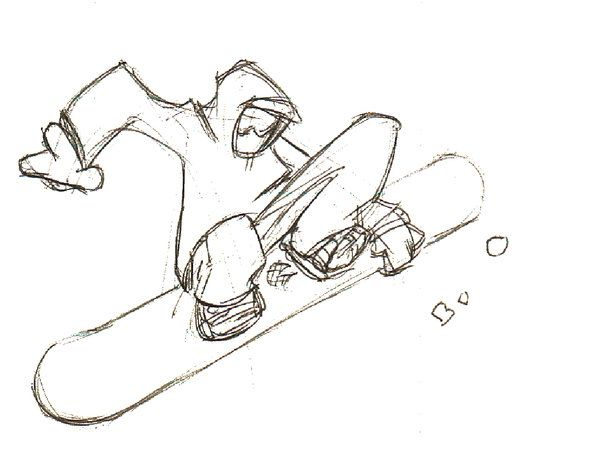 Snowboard Drawing