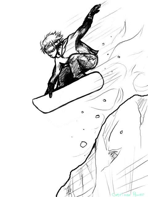 480x640 Snowboard Dude Draft Sketch By Azuretigress