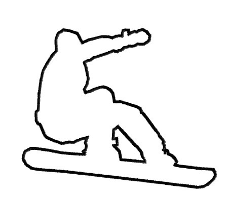 446x389 Snowboard Outline Embroidery Designs, Machine Embroidery Designs