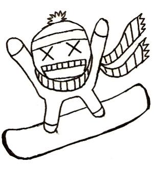 301x331 Snowboarding Crazy Guy By Snowboardingtaco