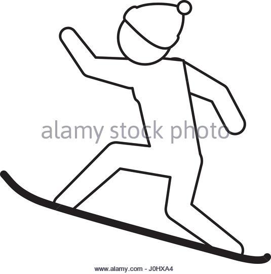 535x540 Snowboarding Pictogram Stock Photos Amp Snowboarding Pictogram Stock